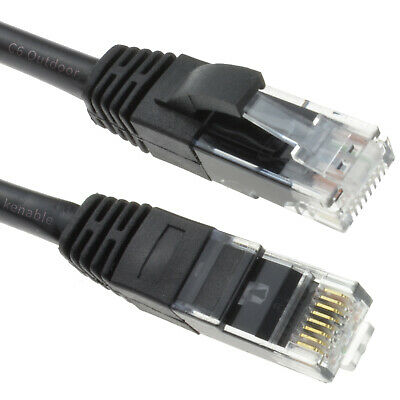 Outdoor  CAT6 COPPER UTP Network Internet Cable 1GB Ethernet Patch Lead CCTV POE