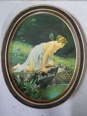 Vintage White Rock Fairy Lady Tin Tip Tray By Fabcraft Usa Replica Advertising