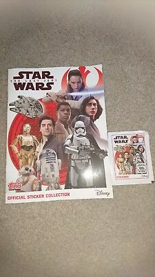 star wars official sticker collection book  topps
