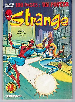 "AVEC LE POSTER ""STRANGE no 158"" (1983) DAREDEVIL / IRON MAN / SPIDERMAN / ROM"