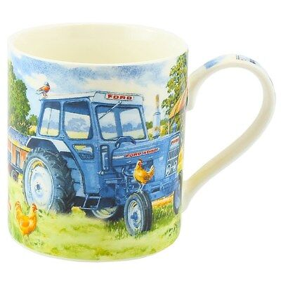 Blue Ford 4000 Tractor Mug Gift Boxed Farming Kitchen China Drinking Cup