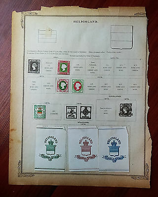 Lot of Original HELIGOLAND 19th Century Cancelled Hinged Stamps as shown