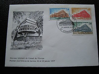 FRANCE - envelope 1st day 22/1/1977 (council of europe) (cy80) french
