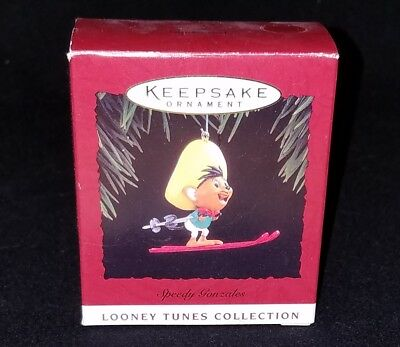 NEW Hallmark LOONEY TUNES 1994 SPEEDY GONZALES on Skis skiing NEW in Box NIB