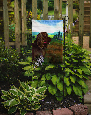 Carolines Treasures  7122GF Sussex Spaniel Flag Garden Size