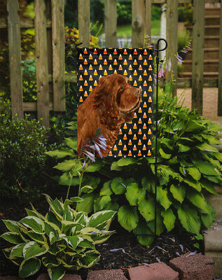 Sussex Spaniel Candy Corn Halloween Portrait Flag Garden Size