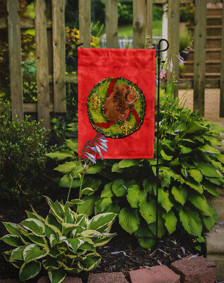 Carolines Treasures  SS4197GF Sussex Spaniel Flag Garden Size