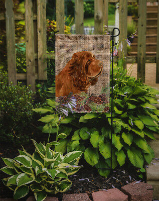 Carolines Treasures  SS4099GF Sussex Spaniel Flag Garden Size