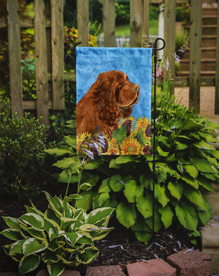 Carolines Treasures  SS4143GF Sussex Spaniel Flag Garden Size