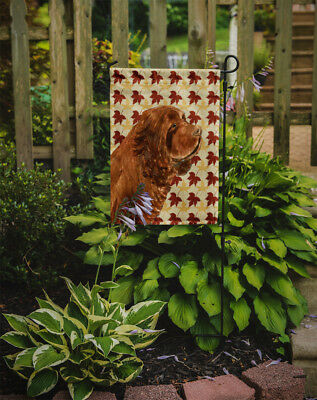 Carolines Treasures  SS4346GF Sussex Spaniel Fall Leaves Portrait Flag Garden Si