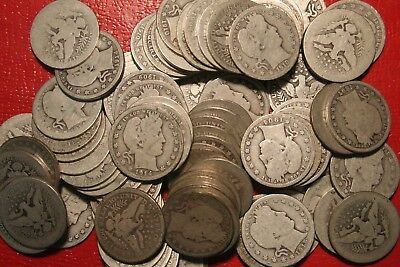 Barber Quarters ,90% Silver Coin Lot  , Circulated, Choose How Many!