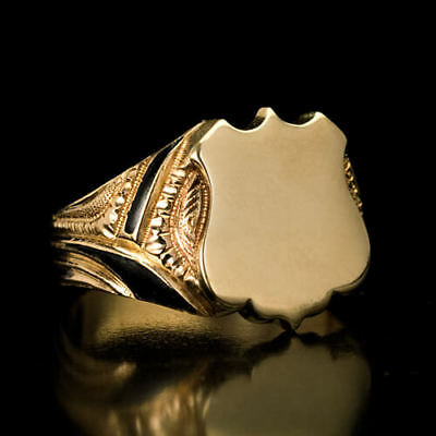 Antique 19th Century Russian Gold Shield Signet Ring