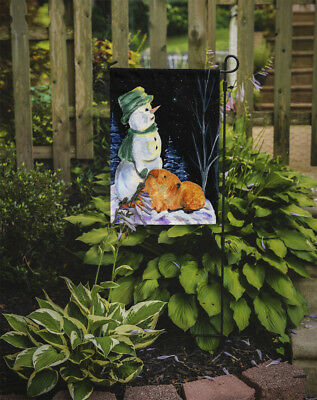 Carolines Treasures  SS8555GF Snowman with Lakeland Terrier Flag Garden Size