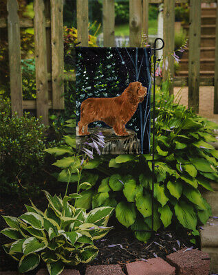 Carolines Treasures  SS8174GF Sussex Spaniel Flag Garden Size