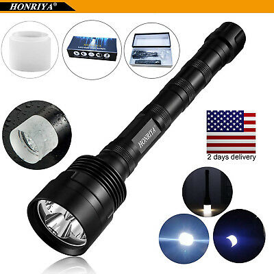 LED Flashlight 12000 Lumen with Camping Cap Diffuser 5 Light Modes Super Bright