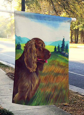 Carolines Treasures  7122CHF Sussex Spaniel Flag Canvas House Size