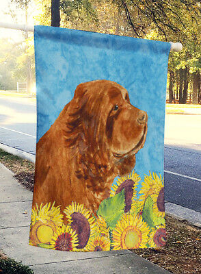 Carolines Treasures  SS4143CHF Sussex Spaniel Flag Canvas House Size