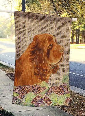 Carolines Treasures  SS4099CHF Sussex Spaniel Flag Canvas House Size