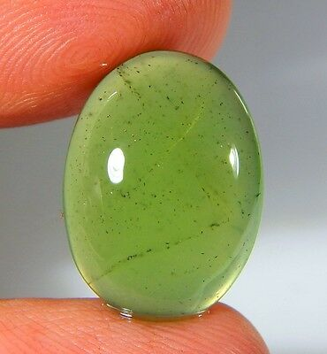 08 Ct Natural Ring Size Deep Green Serpentine  Jade Oval Cabochon  Gemstone A126