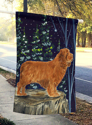 Carolines Treasures  SS8174CHF Sussex Spaniel Flag Canvas House Size