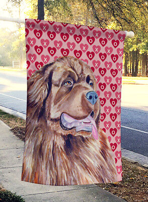 Newfoundland Hearts Love and Valentine's Day Portrait Flag Canvas House Size