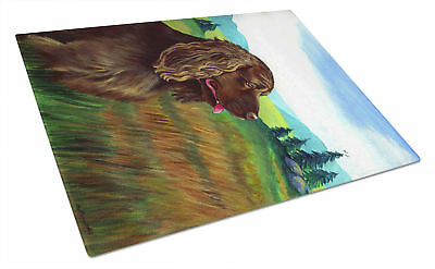 Carolines Treasures  7122LCB Sussex Spaniel Glass Cutting Board Large