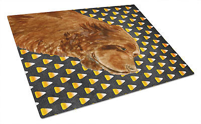 Sussex Spaniel Candy Corn Halloween Portrait Glass Cutting Board Large