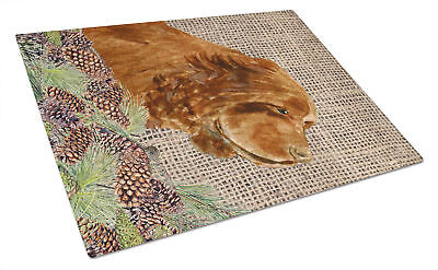 Carolines Treasures  SS4099LCB Sussex Spaniel Glass Cutting Board Large