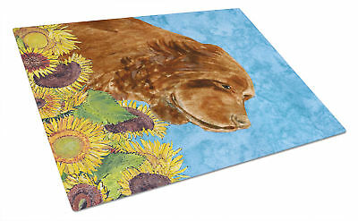 Carolines Treasures  SS4143LCB Sussex Spaniel Glass Cutting Board Large