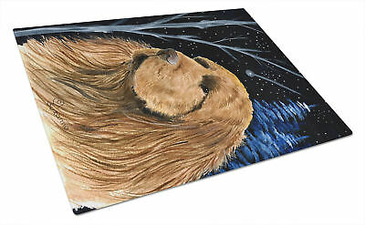 Carolines Treasures  SS8391LCB Starry Night Sussex Spaniel Glass Cutting Board L