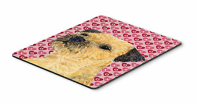 Border Terrier Hearts Love and Valentine's Day Mouse Pad, Hot Pad or Trivet