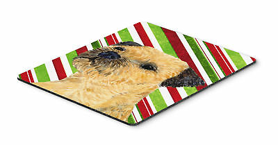 Border Terrier Candy Cane Holiday Christmas Mouse Pad, Hot Pad or Trivet