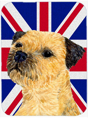 Border Terrier with English Union Jack British Flag Mouse Pad, Hot Pad or Trivet
