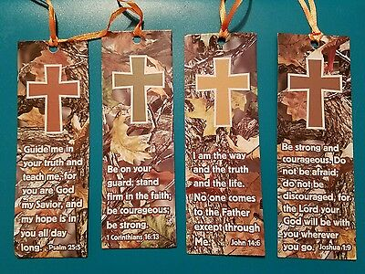 Lot Of 4 Religious Camoflauge Book Marks New Very Good