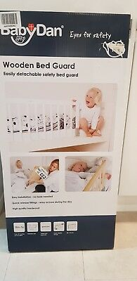 BabyDan White Wooden Bed Guard Rail - Brand New in Box