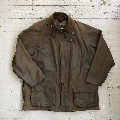 Vintage Barbour Moorland Waxed Cotton Jacket Mens Large