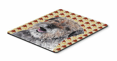 Carolines Treasures  SC9543MP Border Terrier Fall Leaves Mouse Pad, Hot Pad or T
