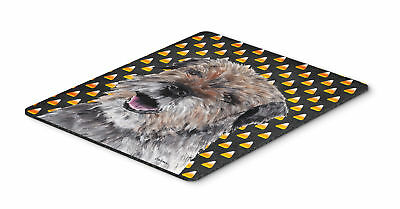 Border Terrier Halloween Candy Corn Mouse Pad, Hot Pad or Trivet