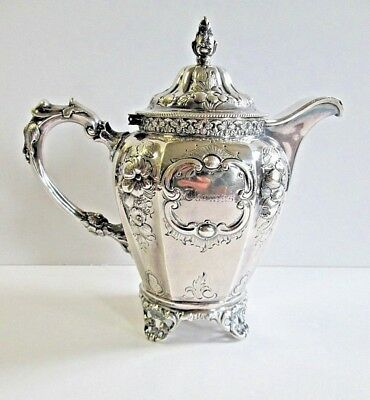 Antique Charters Cann & Dunn American Coin Silver Lidded Footed Creamer c:1850