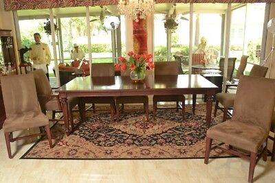 DINING ROOM TABLE with 8 Chairs / Martha Stewart Collection / and Rug and  Pads