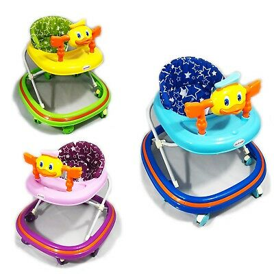 Baby Walker First Steps Ride On Bouncer Musical Toy Push Along Pink Activity Kid