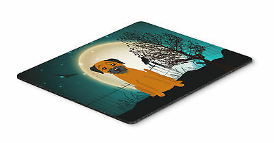 Halloween Scary Border Terrier Mouse Pad, Hot Pad or Trivet
