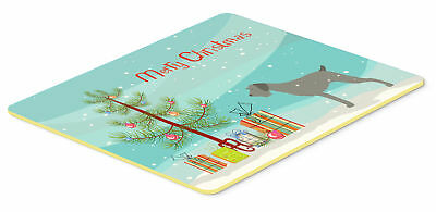 German Wirehaired Pointer Merry Christmas Tree Kitchen or Bath Mat 20x30