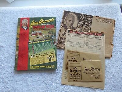 1941 Jim Brown's Fencing & Farm Supplies Bargain Book W/env.-Spring & Summer