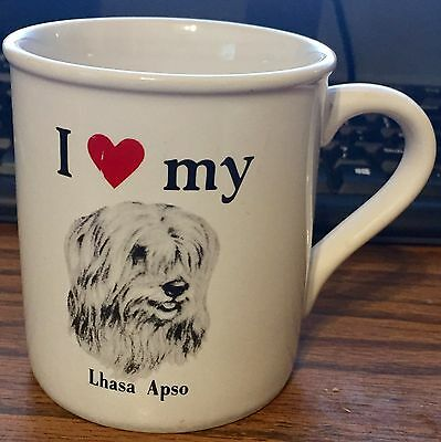 I Love Heart My Lhasa Apso Dog Mug Cup Canine K9 Pet Lovers Rescue Puppy