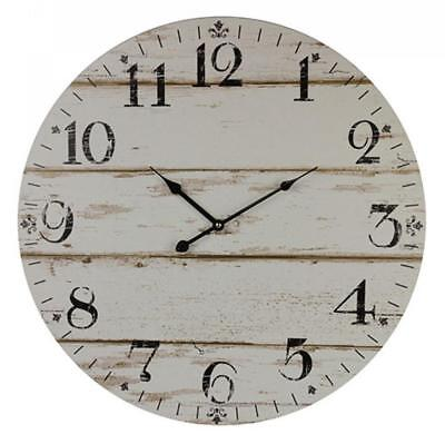 Clock Large French Country Vintage Inspired Wall Clocks 60cm WHITEWASH BOARDS