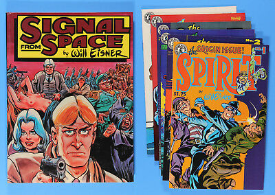 Will Eisner Book Lot, THE SPIRIT (Vol. 5) #1-6 Comics and SIGNAL FROM SPACE Book