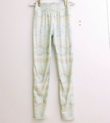 LuLaRoe Tween Aztec Pastel Yellow Pink Green Purple Leggings LLR Girls Pant D1