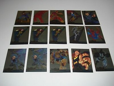 1995 Marvel Metal Trading Cards Gold Blasters & Metal Blasters Lot of 50