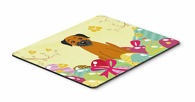 Easter Eggs Border Terrier Mouse Pad, Hot Pad or Trivet